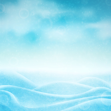 Realistic winter background