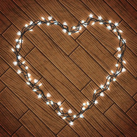 Magic background with christmas lights, vector illustration