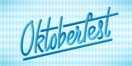 Happy Oktoberfest poster. Beer festival decoration badge icon. Ilustração