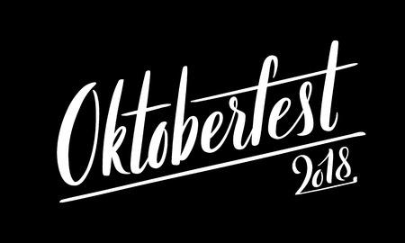 Happy Oktoberfest poster. Beer festival decoration badge icon.