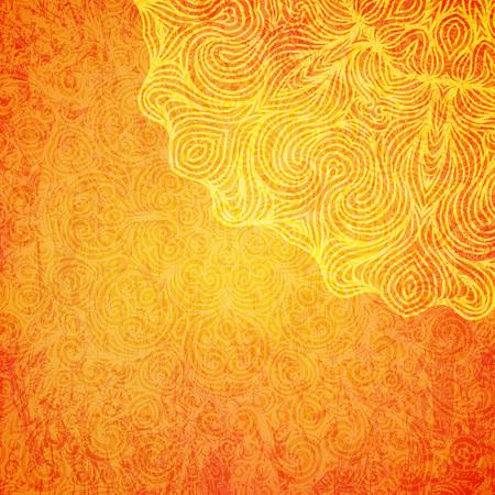 Elegancki błyszczący indyjski tło z mandalą. Ilustracja wektorowa.