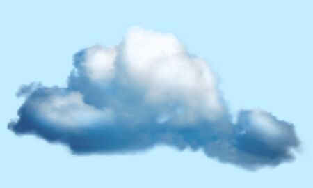 Realistic cloud over transparent background. Vector illustration.