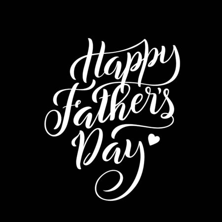 Lettering for Fathers day greeting card with handdrawn lettering. Typography poster. Vector.