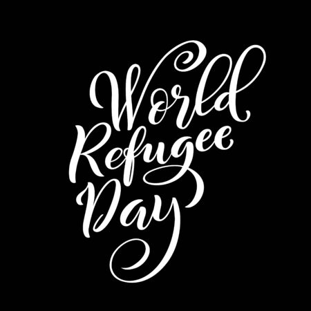 World refugee day poster on June 20. Vector illustration. Ilustracja