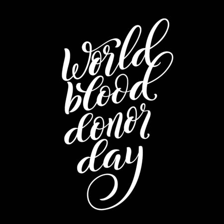 World blood donor day poster on June 14. Vector illustration.