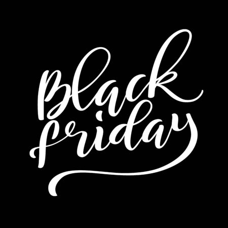 Black Friday Sale Poster with handdrawn lettering. Vector illustration.