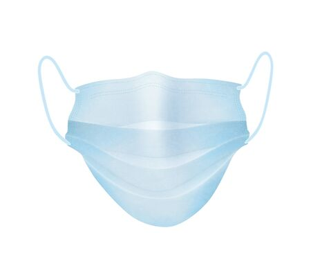 Medical mask isolated over white background. Protect youself from infection Corona virus. Realistic vector illustration. Illusztráció