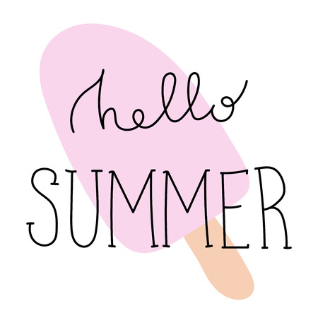 Summer Cartoon Lettering 일러스트