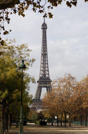 Eifeltower at autumn time in ParisFrance Stock Photo