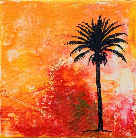 create: pittura con palmtree, opere d'arte viene creata e dipinta da me stesso;