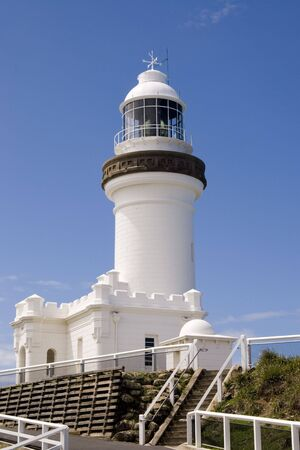 Lighthouse at Byron Bay, the most easterly point of the Australian mailand photo