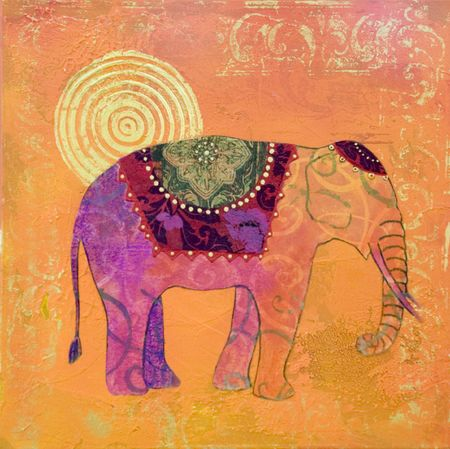pink elephant: acrylic painting, artwork; artwork is created and painted by myself;