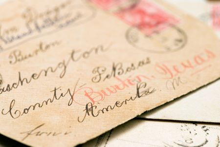 old handwritten letters photo