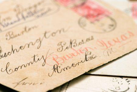 old handwritten letters Stock Photo - 3158730