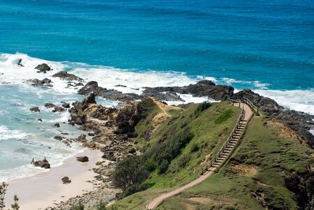 byron: Beach and cliff at Byron BayAustralia
