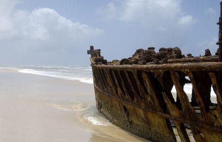 wreck of moheno on Fraser island photo