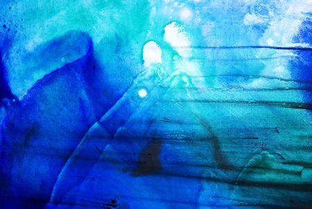 create: Sfondo dipinto in diverse tonalit� di blu, bianco e turchese, la pittura � stato creato dal fotografo  Archivio Fotografico
