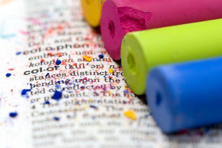 pastel chalk on lexicon photo