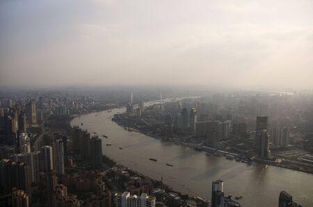 Panoramic view over ShanghaiChina Stock Photo