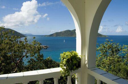 indies: View from Camanoe IslandBVI over the caribbean sea Stock Photo