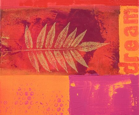 red and orange acrylic painting, artwork is created and painted by myself;
