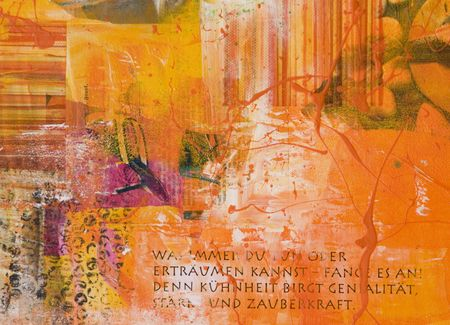aphorism: artwork background with german aphorism, artwork is created and painted by myself