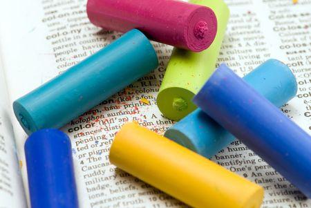 lexicon: pastel chalk on lexicon