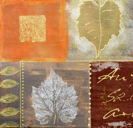 가을 색 그림 아트웍을 만들고 자신에 의해 그린