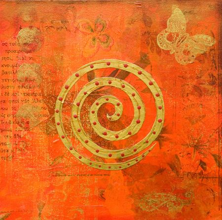 collage painting indian style, artwork is created and painted by myself Stock Photo - 3197646