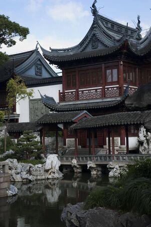 traditional chinese houses in Yu Garden, Shanghai/China  Stock Photo - 3197642