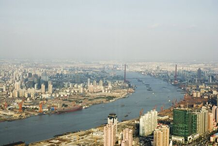 skyline of Shanghai/China Stock Photo - 3197604