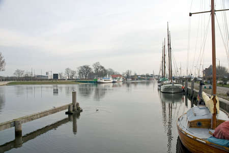 sailingboat: Harbour in Greifswald, North Germany