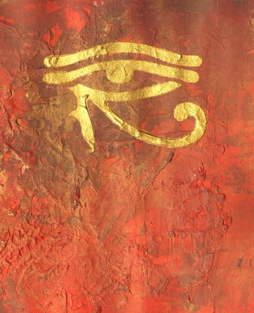 eye of horus: painting with horus eye, egypt symbol, artwork is created and painted by myself