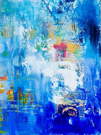 pained: blue abstract pained background, artwork is created and painted by myself