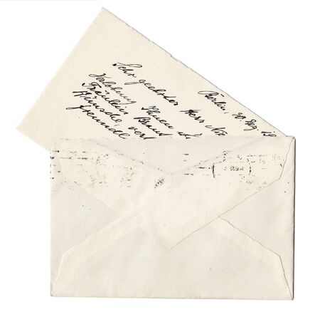 Envelope with old handwritten letter Stock Photo