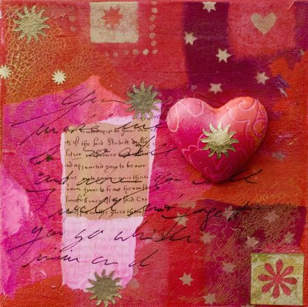 heart collage, artwork is created and painted by myself