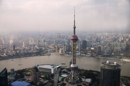 Panoramic view over Shanghai/China Stock Photo - 3248609