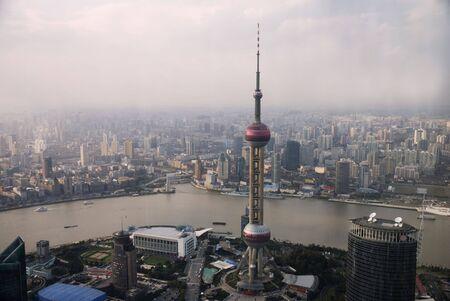 Panoramic view over ShanghaiChina Editorial