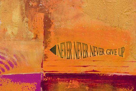 nunca: resumen con pintura acr�lica s�mbolo de pesca  Foto de archivo
