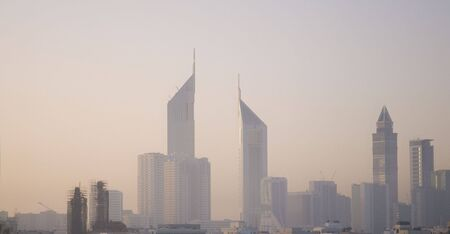 Dubai skyline in evening light Stock Photo - 3773921