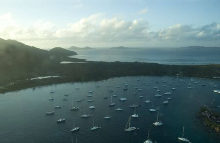 View from airplane over British Virgin Islands, Caribbean Stock Photo - 3817283