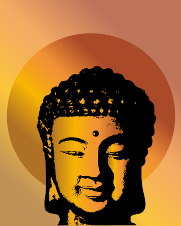 Buddha head Illustration