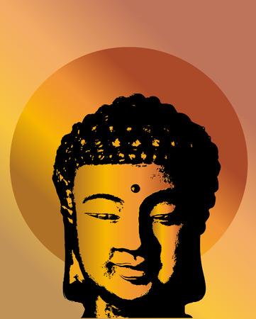 buddha head: Buddha head Illustration