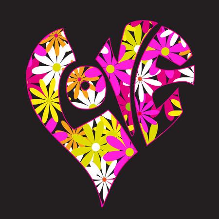 illustrazione vettoriale di progettazione con l'amore