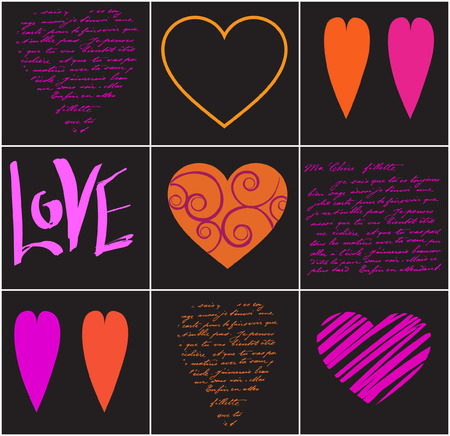 vector illustration with heart and text