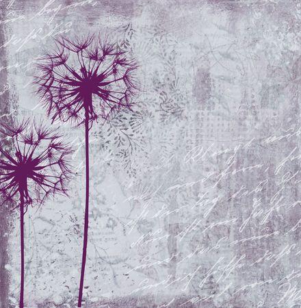 collage 페인팅 민들레 꽃, 아트웍을 만들고 의해 그린 자신에 의해 그린