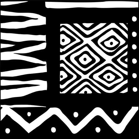 Vecto illustration black and white ethno design