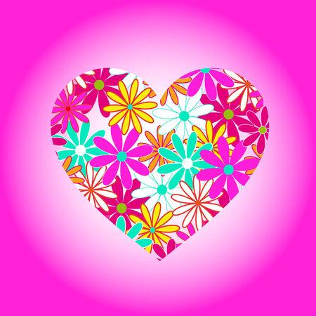 Flower heart illustration Vector