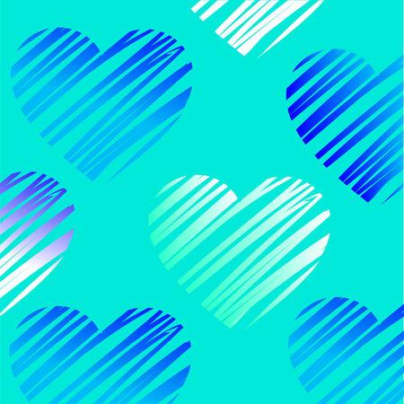 blue heart illustration Vector