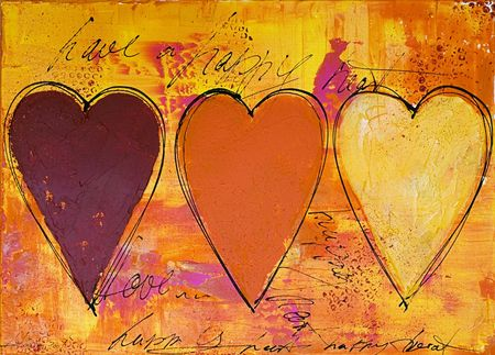 create: abstrakt pittura, opere d'arte viene creata e dipinta da me stesso Archivio Fotografico
